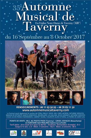 24 septembre 17h  Automne musical de Taverny